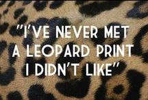 Leopard spots / Ok, I admit, I give in :-D I love leopard prints. :-)