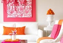Color Splash :: Fuchsia & Orange