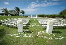 Ceremony:  decorated sites - neu events / Ceremony set-ups from weddings we planned and coordinated