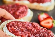 Jams and Jelly Recipes / Here you'll find lots of healthy, lower sugar recipes for jams and jellies--spread them on toast or top oatmeal!