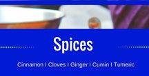 Spices / Cinnamon I Cloves I Tumeric I Cumin I Garlic I Health Benefits I Recipes