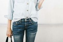 STYLE. FASHION / skinny jeans + graphic tee + good nails + messy hair + some fab jewelry