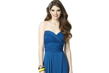Dessy Twist Wrap Bridesmaid Dress. / The Twist Wrap dresses are convertible to over twenty different shape and style  constructed in luxurious, hand washable matte jersey.