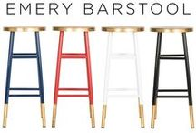 Trending Item: EMERY STOOL / The Emery Barstool & Counter stool are trending pieces that are sure to be the focal point for your kitchen space. / by Safavieh Official