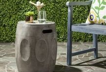 Concrete Accents / Safavieh's beautifully crafted concrete pieces are a perfect blend of artistic styling and contemporary sculpture - #safavieh #concrete #concretefurniture #concreteaccents #concretetable #concreteaccenttable #concretegardenstool #concretestool #gardenstool #concretelighting #lighting #whiteconcrete #trendingitems #trendinghomedecor #trendingfurniture #livingroom #outdoor #outdooraccents #outdoorfurniture #bathroom #indooroutdoor #accenttable #modernaccents #modern #contemporary #rustic