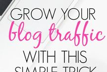 Increasing Blog Traffic / Increase your blog traffic with these tips and tricks. Use social media such as Facebook, Pinterest and Instagram to grow your followers and blog.