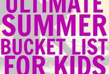 Summer fun ideas for kids / Summer activities, summer bucket lists, everything to do during summer vacation from crafts to camping. July 4th, Canada Day. Beach days, outings and rainy day ideas.