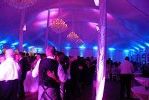 Chicago Area Wedding Decor Lighting (uplighting) / Beautiful and unique decor lighting ideas from around the Chicago area.