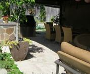 Entertaining space in Costa Mesa, CA / This back yard in #CostaMesa, (#OrangeCounty) Californina is perfect for entertaining.  A mixture of native and edible plants creates the perfect garden for you and your loved ones to enjoy.