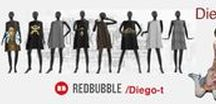 "Redbubble ""A - Line"" Dresses / The a-line dress definition that will sound most familiar to shoppers today is a dress or skirt silhouette that is narrower at the waist and flaring gently wider from the hip, thereby resembling the letter ""A."" A true A-line skirt or dress has no pleats or slits for ease of wear, but may have darts or seams at the hip."