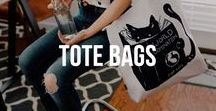 Tote Bags / Tote Bags with my Arwork from Redbubble and Society6