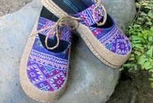 Siamese Dream Design Shoes / Fun colorful eco friendly vegan shoes made from re-purposed ethnic textiles. Hmong, Akha, Naga and more. Eco friendly fashion doesn't have to be boring.