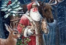 Heirloom   ::   JOLLY    OL'    ST. NICK / This board is my treasure house of   Vintage Santa Pics