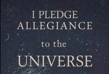 """New Pledge of Allegiance / As we move into another level of consciousness, we need to end divisivness and acknowledge our oneness with the universe.  Let us remove the labels and collaborate as we move from """"me"""" to """"we.""""    / by Mary Rose"""
