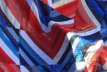 Modern QOV Ideas / Who says quilts made for QOV can't be modern?  Red, white, & blue is a classic color combination that'll make GORGEOUS quilts to honor those that have served our country.