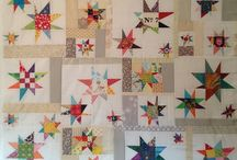 A Sky Full of Stars / Inspiration board for WONKY STAR quilts.  The 2016 Chautauqua Quilt Show theme is stars.  Our group efforts will be modern wonky stars!