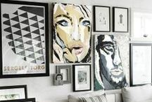 Black & White / A curated board of b & w furniture, fabrics, walls, art & accessories. / by Lisbeth Cort