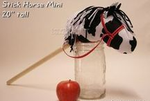 Lil's Garden Stick Horses / Handmade stick horses, with or without the stick, you get to choose! (written instructions and Zip Tie included with just stick horse head). Follow this board and use coupon code: PIN10LG and take 10% off your order at www.LilsGarden.etsy.com