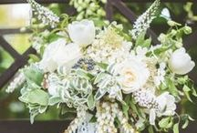 Bouquets-white,ivory / White and ivory bouquets with a touch of green for the traditional bride