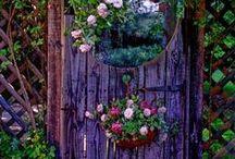 Garden Gates, Fences, Arbors & Trellises / Garden architecture / by Carmen Hansen Schwitzer