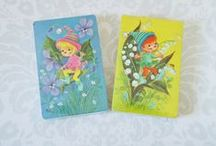 on the cards / the unexpectedly lovely art of the reverse of vintage playing cards / by modflowers