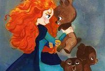 Merida / She is my favorite disney princess, because she doesn't need any boyfriend :P