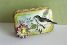 Altered Art/Mixed Media / Altered tins, boxes, bottles / by Kathleen S