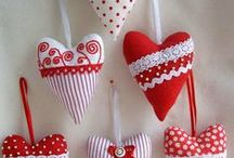 Red & White / A love of red and white home style