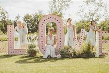 bridesmaids, flower girls and page boys