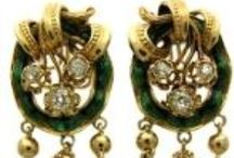 Antique Earrings / Victorian and Art Deco Earrings
