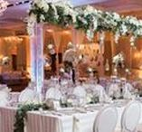 Wedding Reception / After tying the knot, loosen your belt and let down your hair. It's time to feast and dance with family and friends! Here's wedding reception ideas from lighting to linens, flowers to favors.