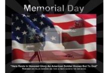 """Memorial Day / """"Today is the day we put aside to remember fallen heroes and to pray that no heroes will ever have to die for us again. It's a day of thanks for the valor of others, a day to remember the splendor of America and those of her children who rest in this cemetery and others. It's a day to be with the family and remember.""""        President Ronald Reagan  at Arlington National Cemetery on Memorial Day in 1986 / by Hobbyhawk Gifts and Hobbies"""