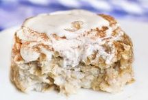 Healthy breakfast: eggs, oatmeal and...