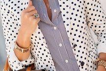 Pockets Polkadots & Pretty White Shirts / by The Happy Woman