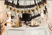 New Year's Eve Party Ideas / Ideas to throw a New Year's Eve party - decorations and food / by Paula Biggs for Frog Prince Paperie