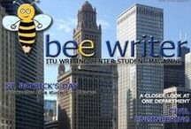 """Bee Writer"" - ITU SFL Writing Center Online Student Magazine / Bee Writer is one of my projects at Writing Center. It is an online magazine prepared by volunteer student writers and two teachers as editors at Istanbul Technical University, the School of Foreign Languages. The logo is also my design. I hope you enjoy following it :)"