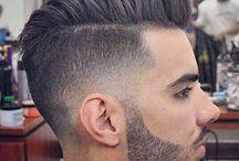 Man's hair and beard