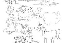 Animal Sketch cartoon