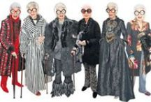"Iris Apfel - A Rare Bird of Fashion / In her nineties, and a fashion icon! Everyone should inspire to be Iris Apfel! ""More is more, less is a bore""."
