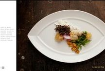plate as palette / Food on plates