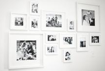 photo wall displays / inspiration for great photo walls -  inpirazione per decorare la casa con le foto