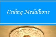 Ceiling Medallions / Change the look of that bland ceiling light by adding a ceiling medallion. Paint it the color you want and Voila!