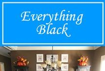 Everything Black / Need something in black for that unfinished room or exterior? Find it at Hermitage Lighting Gallery!