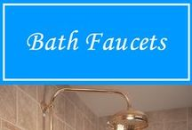 Bath Faucets / Hope on over to our hardware site. http://hermitagelighting.com/Hardware.html You'll find everything you'll need for your bathroom