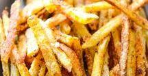 French Fries / Pommes / I love homemade fries. Here are great recipe ideas. Ich liebe Pommes. Hier gibt es tolle Rezeptideen rund um das Thema Pommes