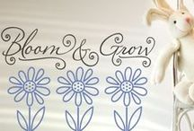 Easter Vinyl Lettering Decals and Decor Ideas / Beautiful Easter Ideas & Crafts created by Simple Stencils Vinyl Wall & Window Lettering to adorn walls, baskets, eggs, windows and more!