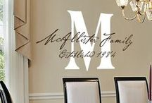 Monograms / Vinyl Monograms created and custom designed for your walls, cars, and other smooth surfaces. Check out our many design styles for all types of family monograms, initials, names, baby monograms, wedding monograms, and many more...  www.TheSimpleStencil.com
