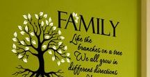Family Room Wall Quotes / Wall Quotes and Lettering designed just for your family spaces. From wall monograms and family trees to fun and inspirational family sayings,  we have something to suit every families style. If you don't see what you're looking for design your own on our site at www.TheSimpleStencil.com