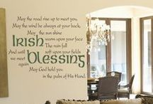 St. Patrick's Day / A fun way to decorate for Saint Paddy's Day or to celebrate your Irish Heritage year round. We have a large selection of Irish blessings, proverbs & quotes that can be easily installed on almost any smooth surface, looks painted on but removable. Read more about our Irish products and they way they can be used at www.TheSimpleStencil.com