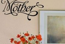 Mother's Day Vinyl Wall & Window Craft Lettering / A collection of beautifully designed Simple Stencil Vinyl Wall Quotes and Lettering Graphics designed with Mom in mind for an extra special personalized Mother's Day gift idea!